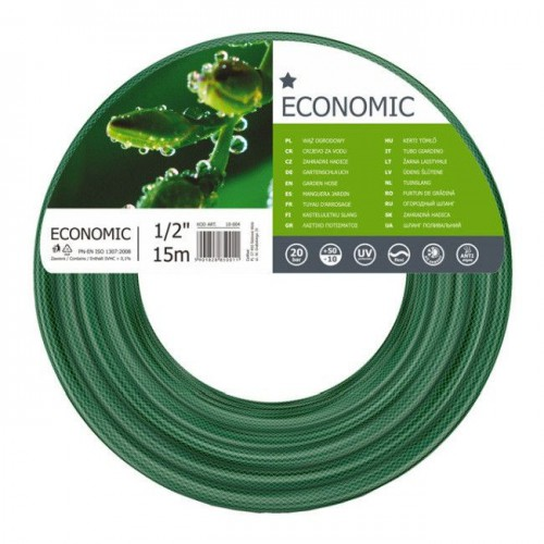 """Wąż ogrodowy ECONOMIC 1/2"""" x 15m  CELLFAST 10-004"""