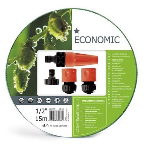 Cellfast Wąż Ogrodowy Zestaw Zraszający Economic 1/2'' 15m 10-101