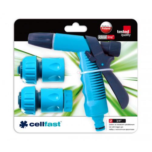 """Cellfast Zestaw 4-części ze zraszaczem pistoletowym 3/4"""" 50-535"""