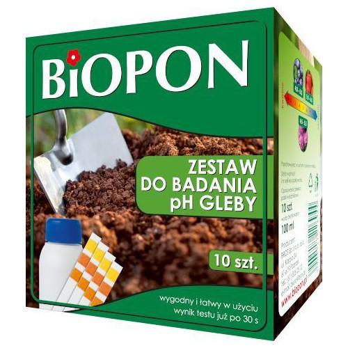 Biopon Zestaw do Badania pH Gleby 10sztuk + 100ml