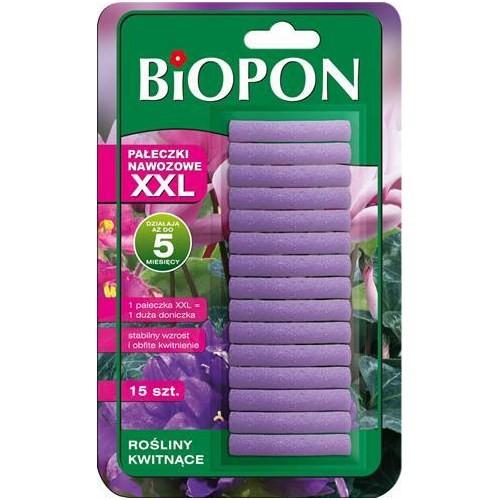 Biopon Pałeczki nawozowe XXL do roślin kwitnących 15 sztuk