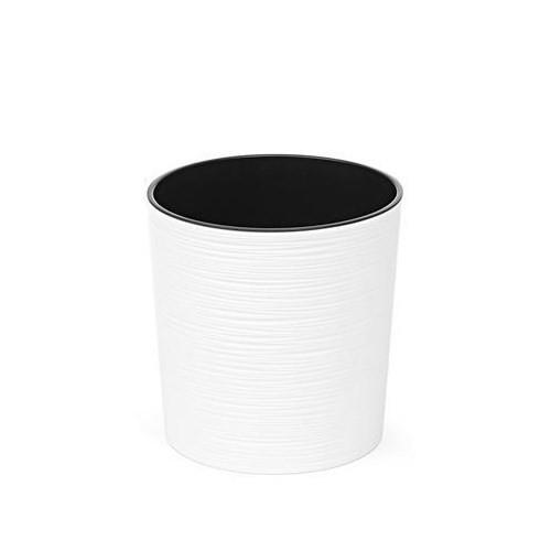 Doniczka okrągła Malwa dłuto biała-19cm