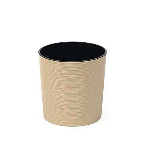 Doniczka okrągła Malwa dłuto cappuccino-19cm
