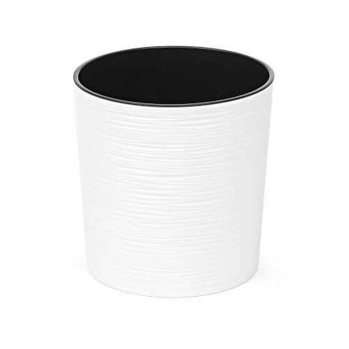 Doniczka okrągła Malwa dłuto biała 25cm