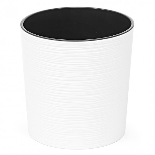 Doniczka okrągła Malwa dłuto biała 30cm