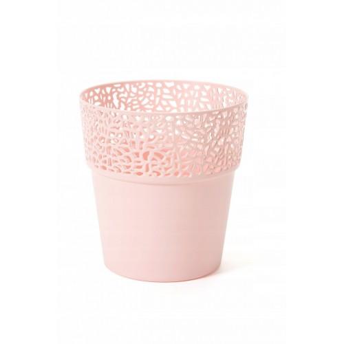 Doniczka osłonka Lamela Rosa pudrowy róż -średnica 13cm
