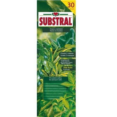 SUBSTRAL Pałeczki nawozowe do roślin zielonych 30szt