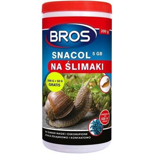 BROS  SNACOL 5 GB 200g+50g gratis - Skuteczny preparat na ślimaki