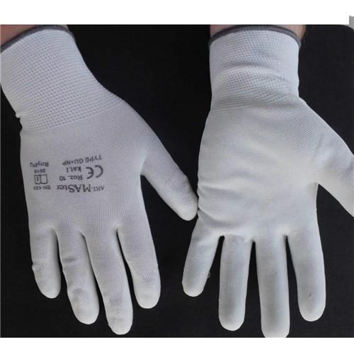 Rękawice robocze RTELA  - ochronne z białego poliestru