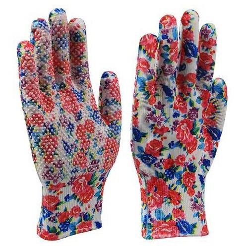 Rękawice Flower nakrapiane rozmiar 8